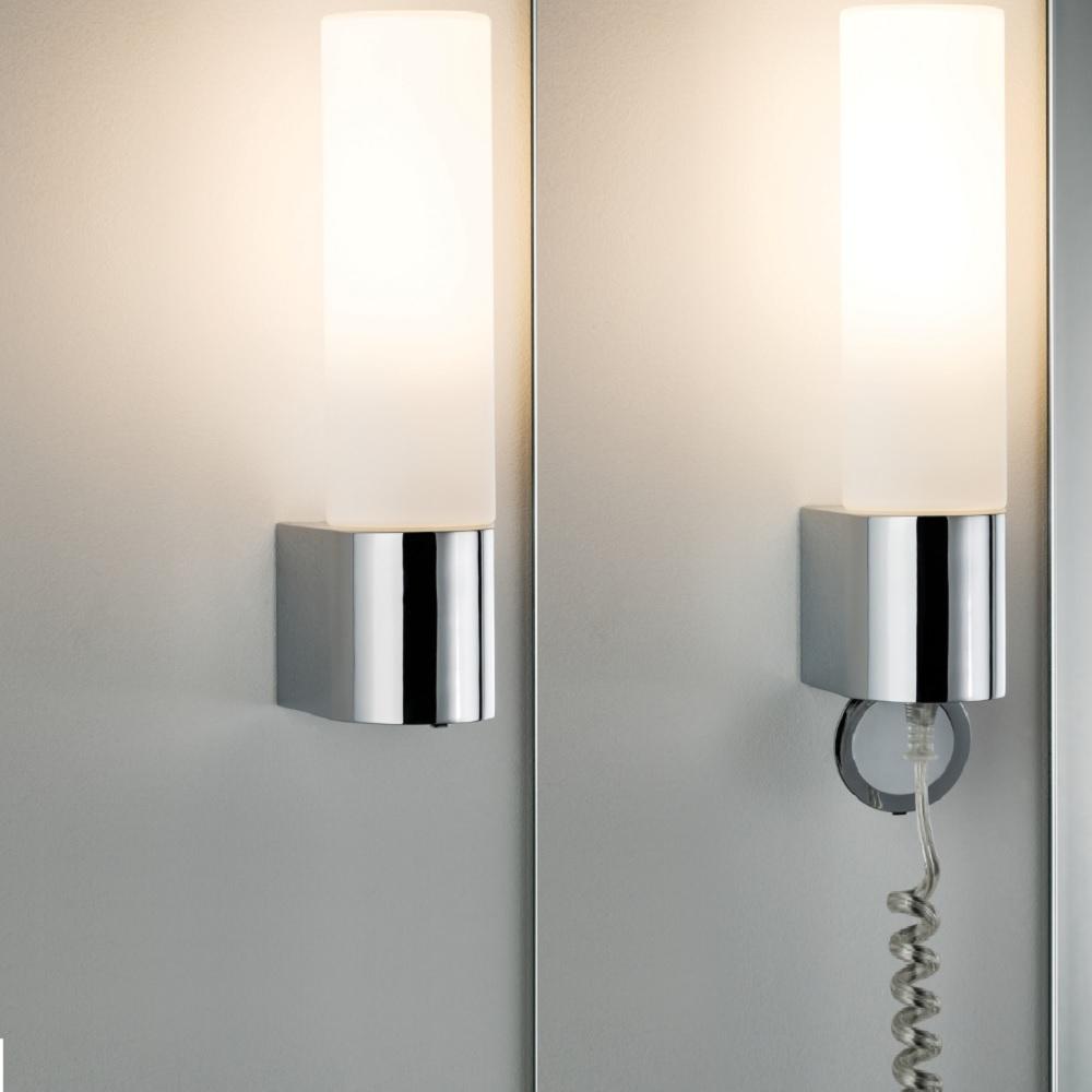 Led Badezimmer Wandleuchte Elektra Mit Steckdose Wohnlicht