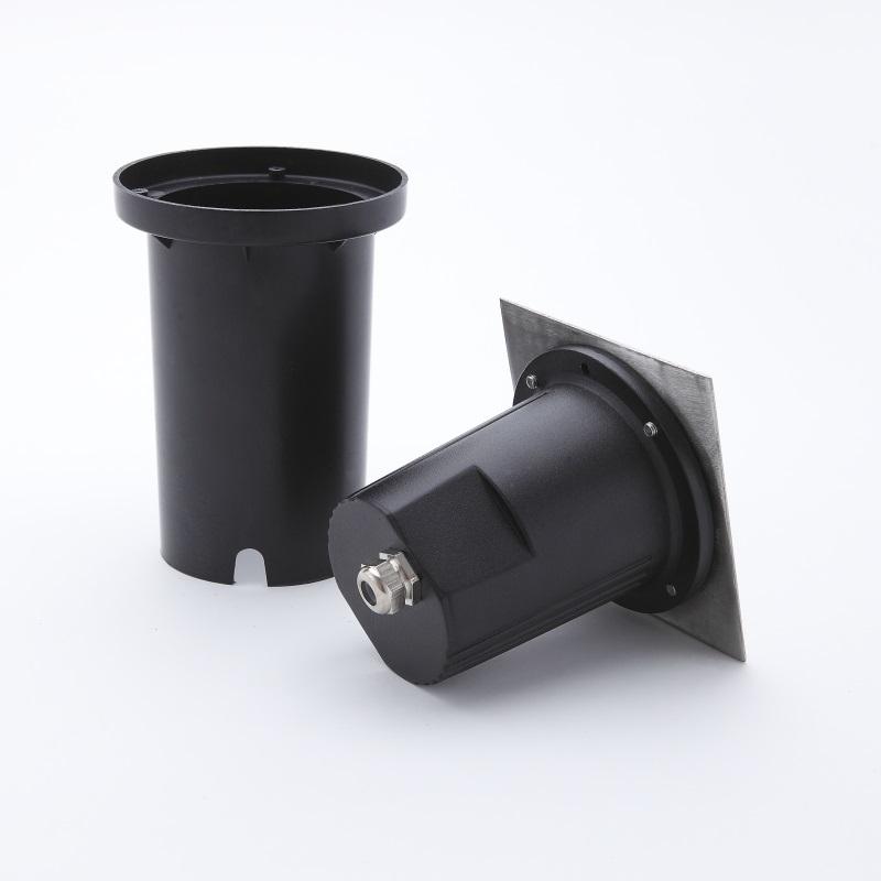 LHG LED Bodeneinbaustrahler, Aluminium, 16cm Einbautiefe, rund o. eckig