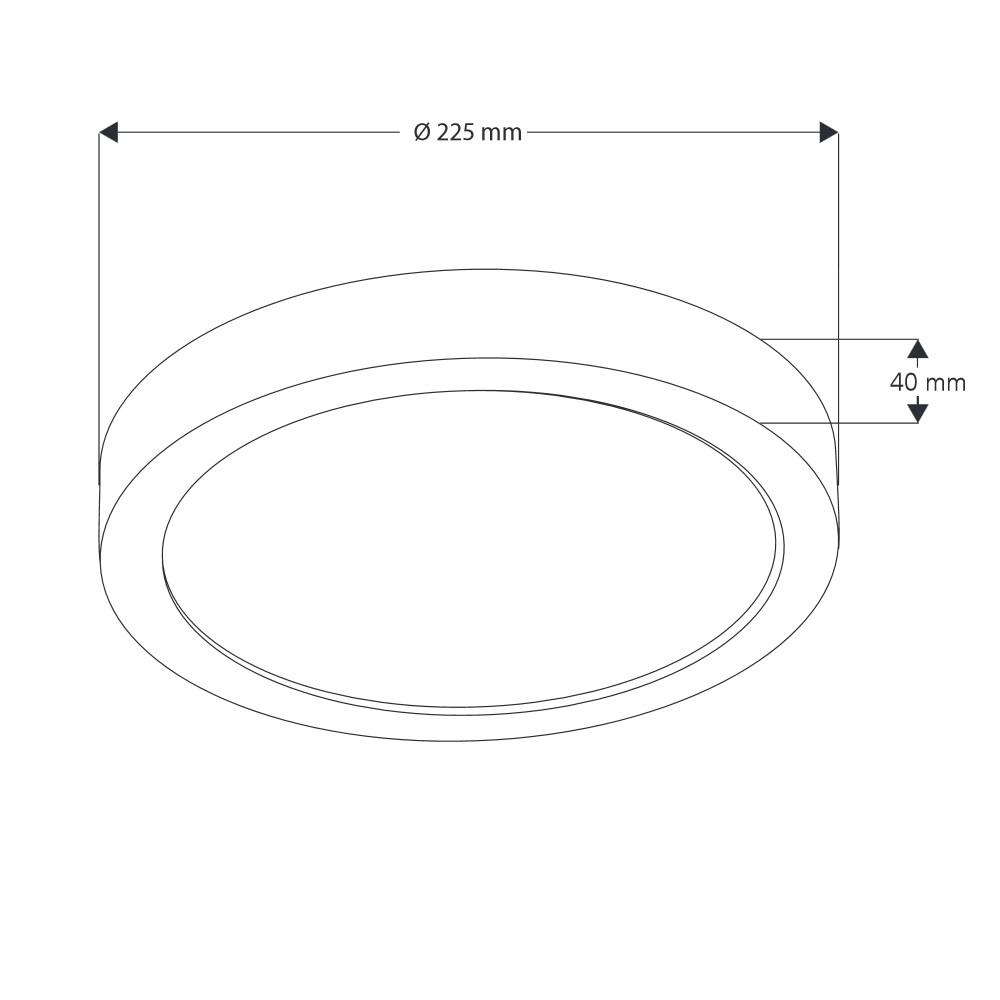 LED Deckenleuchte - 18Watt - weiß