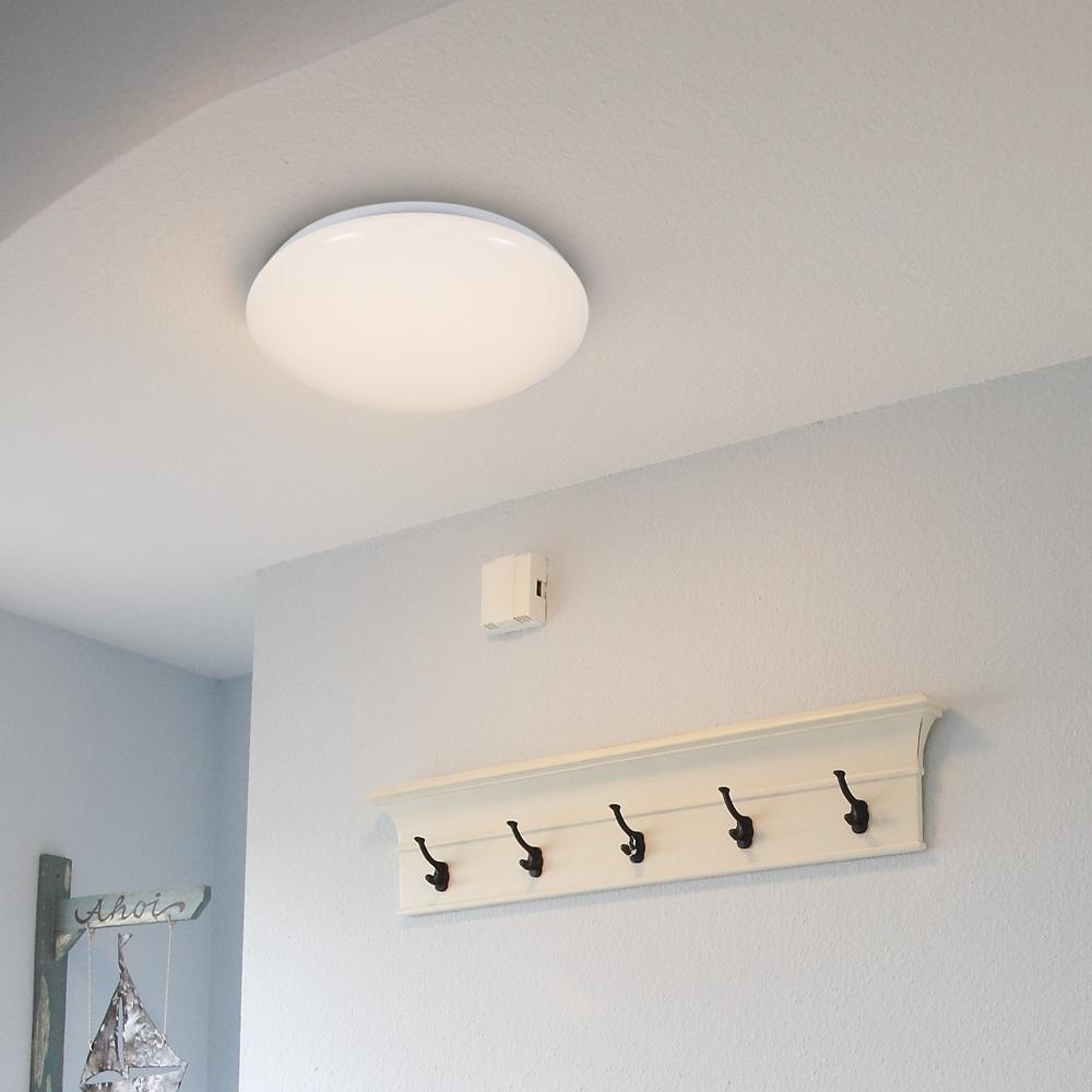 LED Deckenleuchte, rund, Weiß, schlicht, schalterdimmfähig, 2 Größen