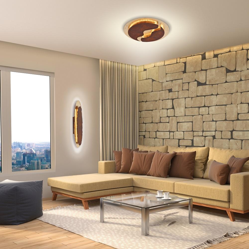 LED Decken- oder Wandleuchte Nevis in zwei Größen