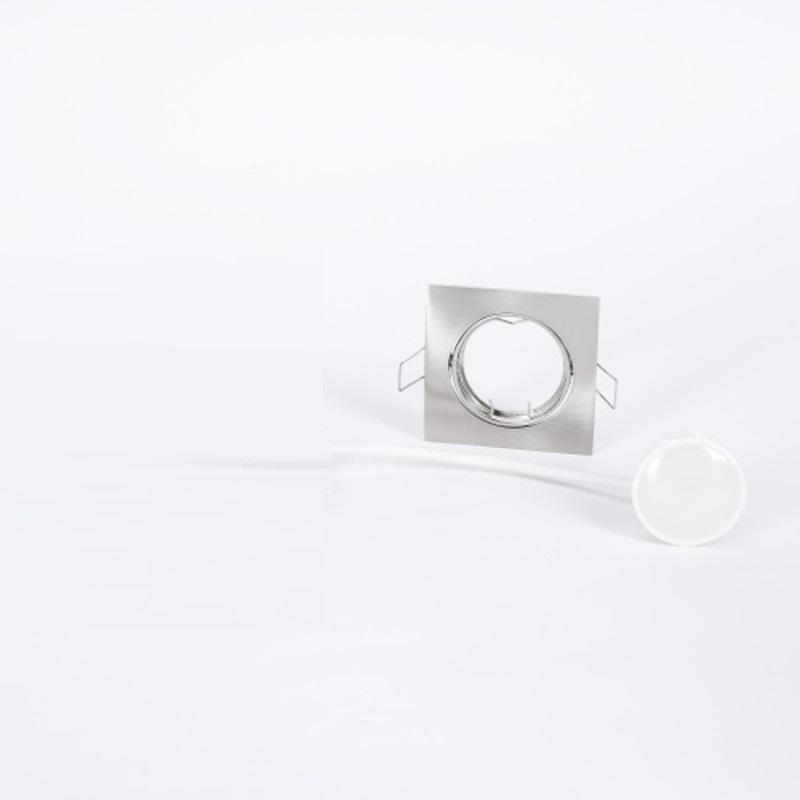 LHG LED Einbaustrahler, 3er Set, Chrom matt, eckig, schalterdimmfähig, 3 Stufen Dimmer