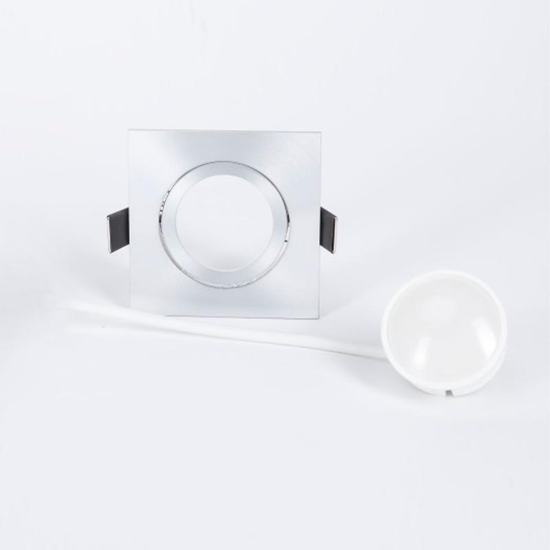 LHG LED Einbaustrahler, Aluminium, eckig, 3er Set, switchmo dimmbar