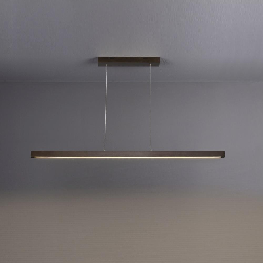 LED Pendelleuchte Smal, 100cm, Holz wählbar