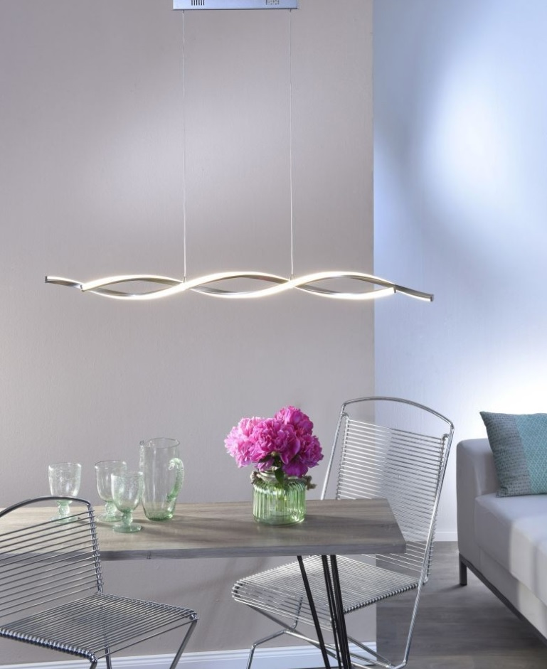LED Pendelleuchte, Simply Dim Funktion, Stahlfarbig, Höhenverstellbar