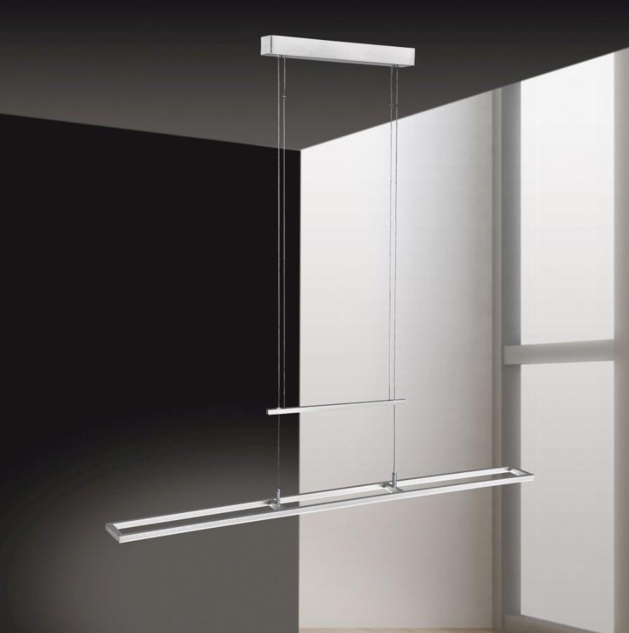 LED Pendelleuchte, Stahlfarbig, NLG-Driver, Simply Dim Funktion
