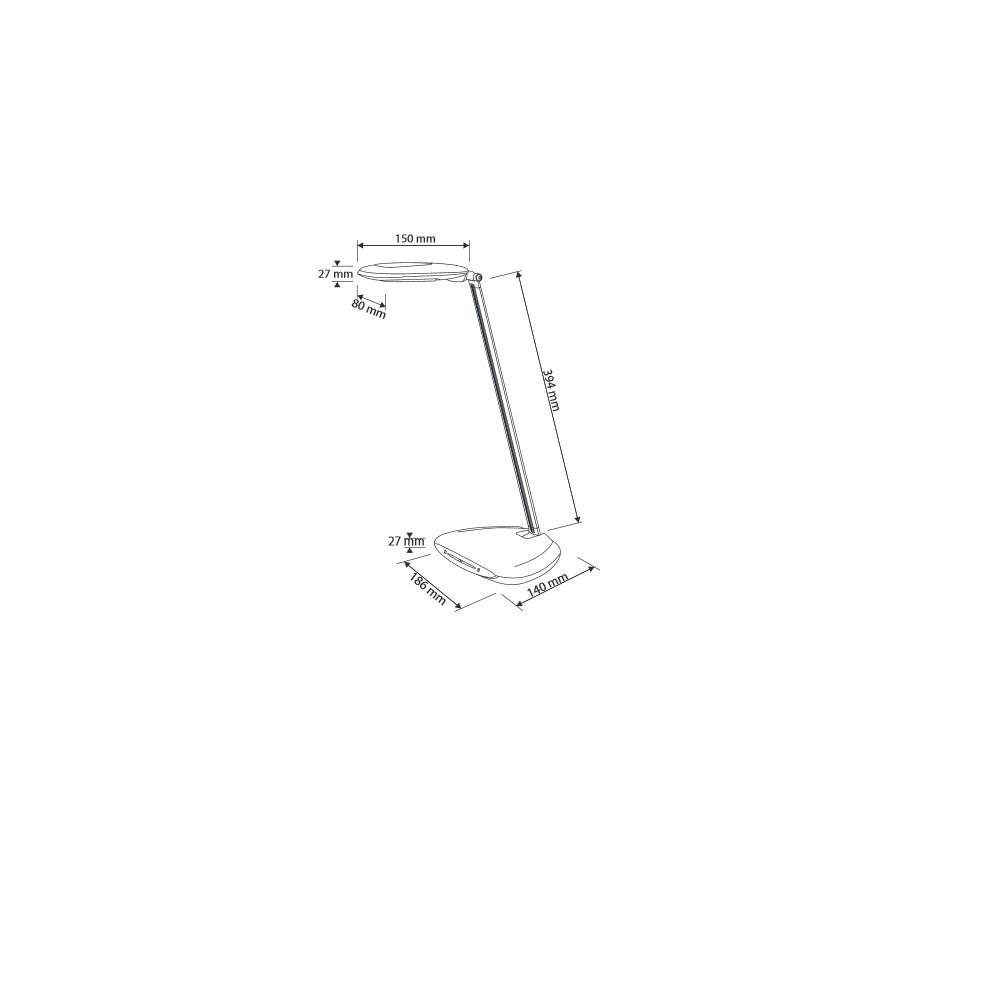 LED Schreibtischleuchte mit einstellbarer Lichtstufe in Schwarz / Silber