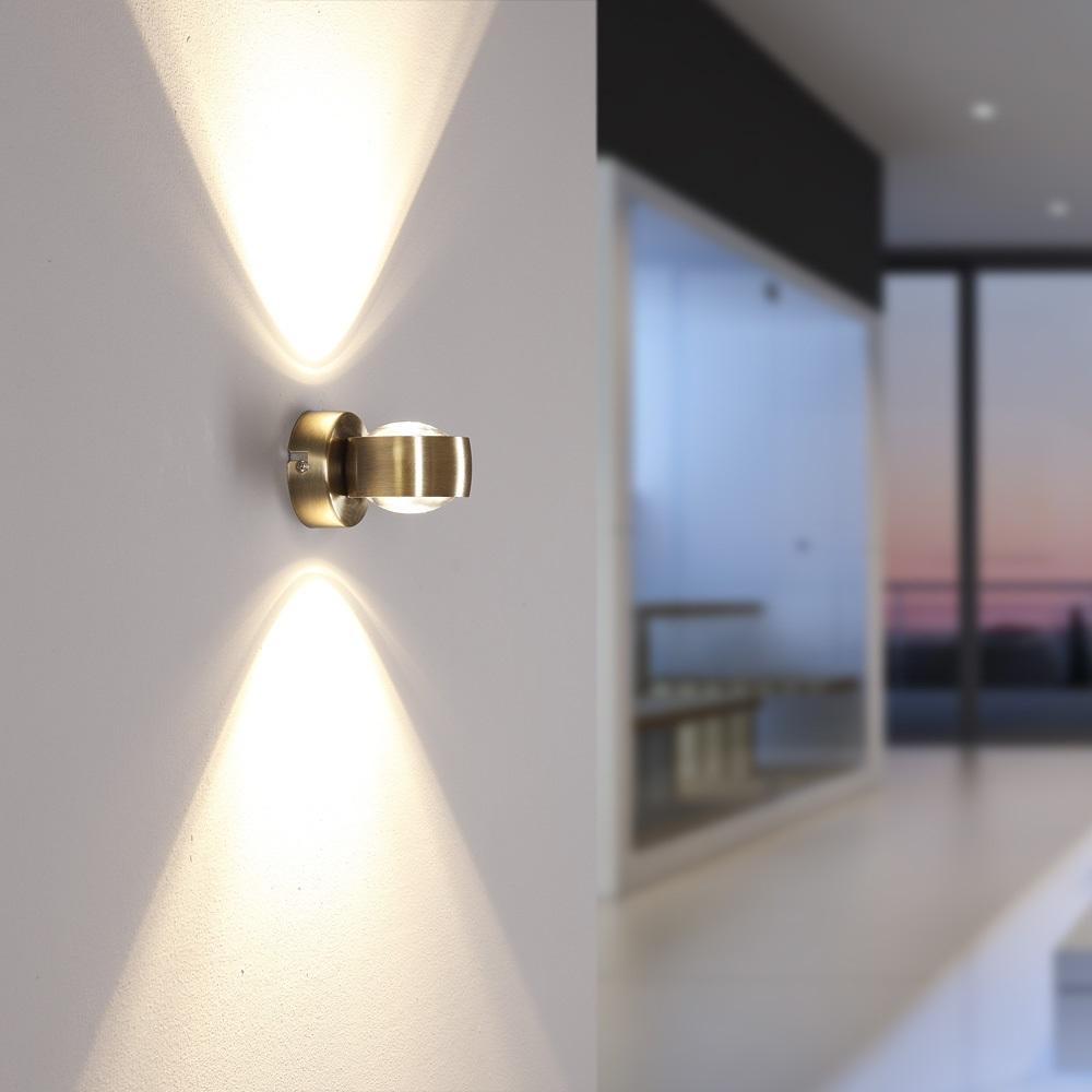 LED Wandleuchte, Up & Down, Lichteffekt, modern, chrom,  4 Oberflächen
