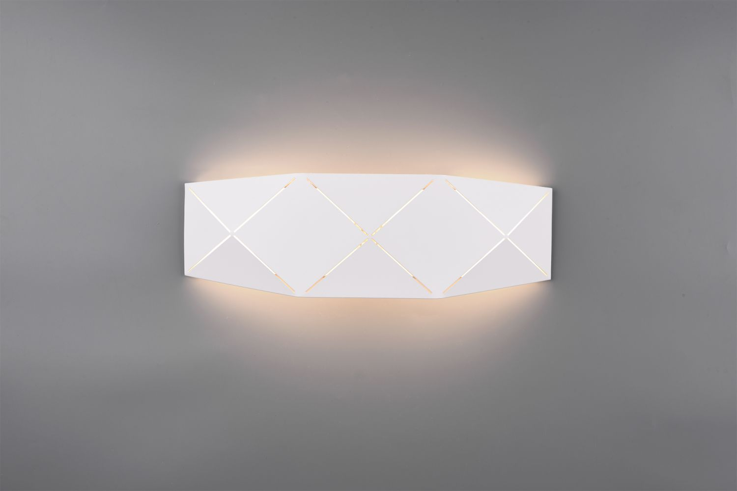 LED Wandleuchte, Up and Down, Metall, 40cm lang, Weiß