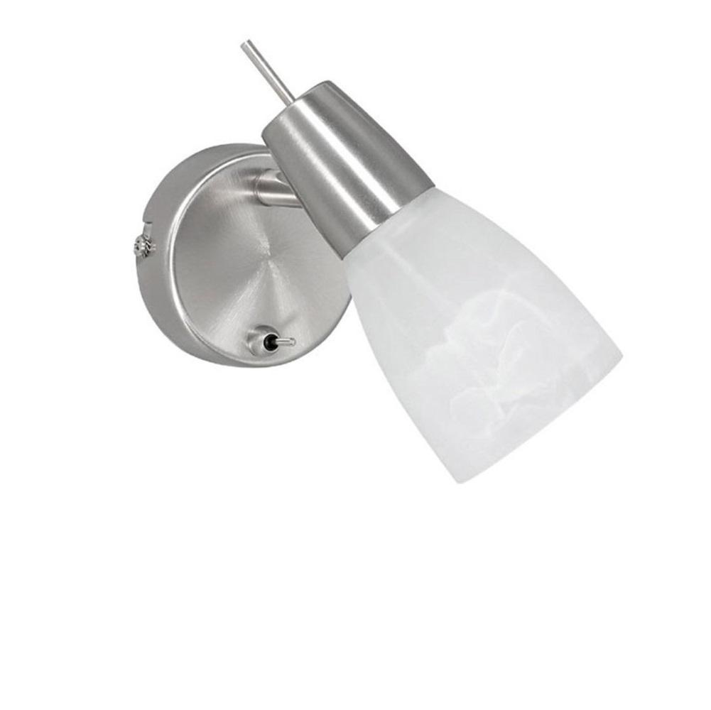 LED Wandleuchte, Schalter, schwenkbar, LED warmweiß, modern, Glas