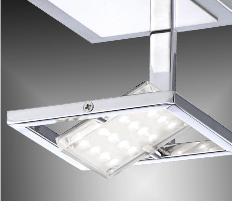 LED- Deckenleuchte aus Chrom - 30° schwenkbar - 10 x 10 cm