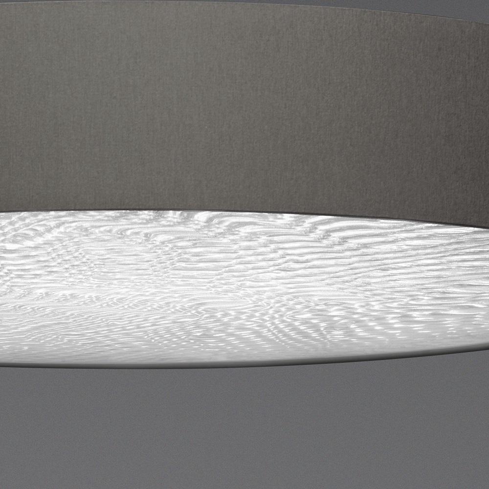 LED-Deckenleuchte taupe mit 3D Folie, 3 Größen, dimmbar