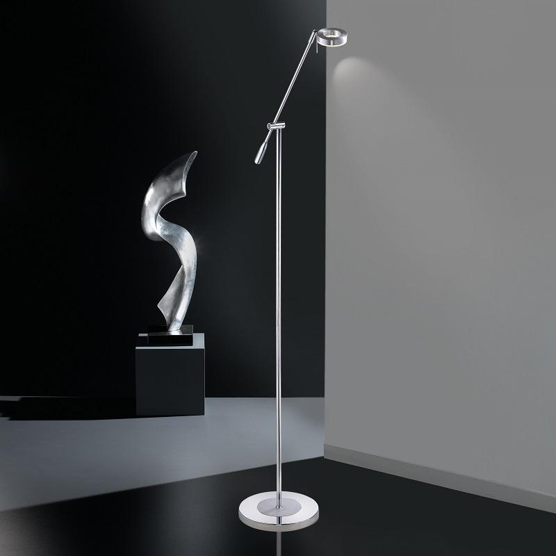 LED-Leseleuchte in Aluminiumfarben - inklusive 1 x 6Watt LED