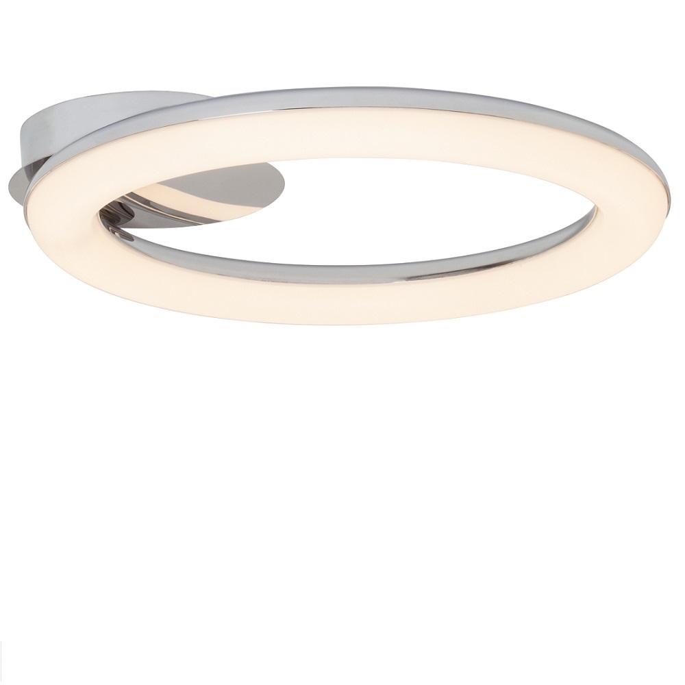 LED-Leuchte Donut Ø 43cm Chrom, 1x 24Watt