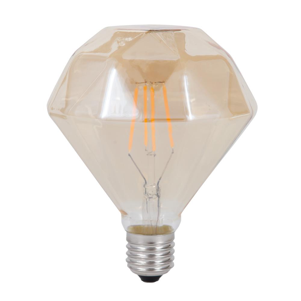 LED-Leuchtmittel E27 4W, braun-getönt, Ø 11,5cm Filament