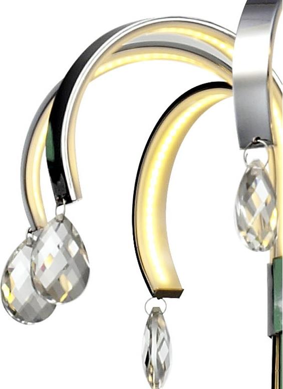 LED-Pendelleuchte Florence Chrom - Acrylglas