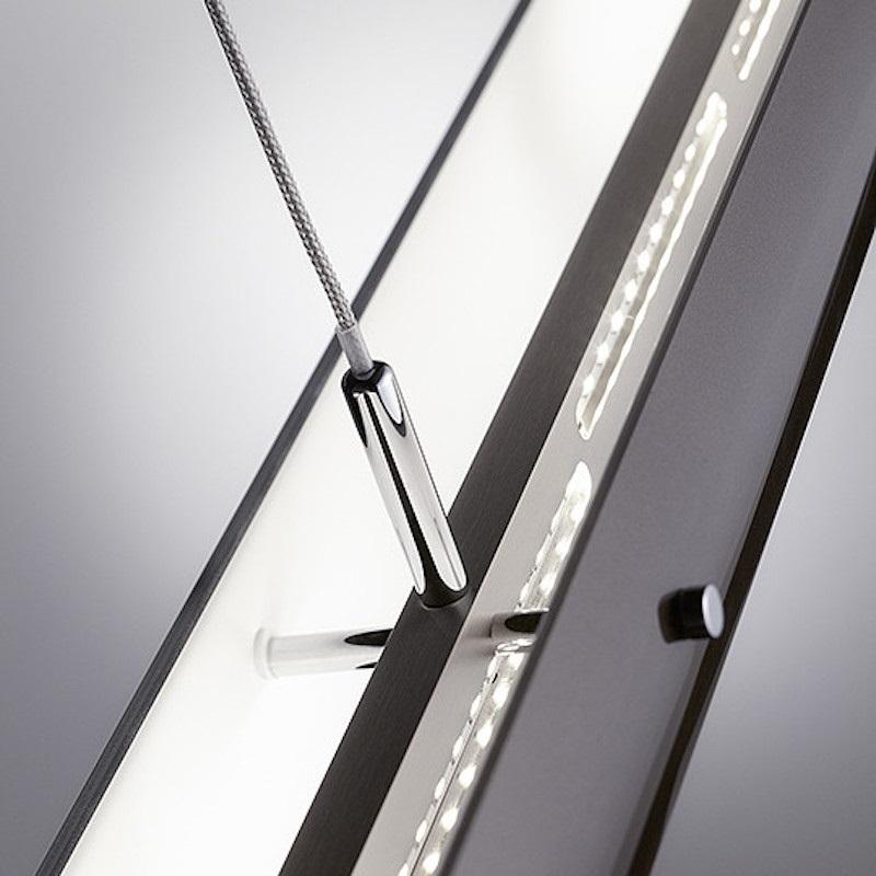 LED-Pendelleuchte Fosco braun - 2 Größen