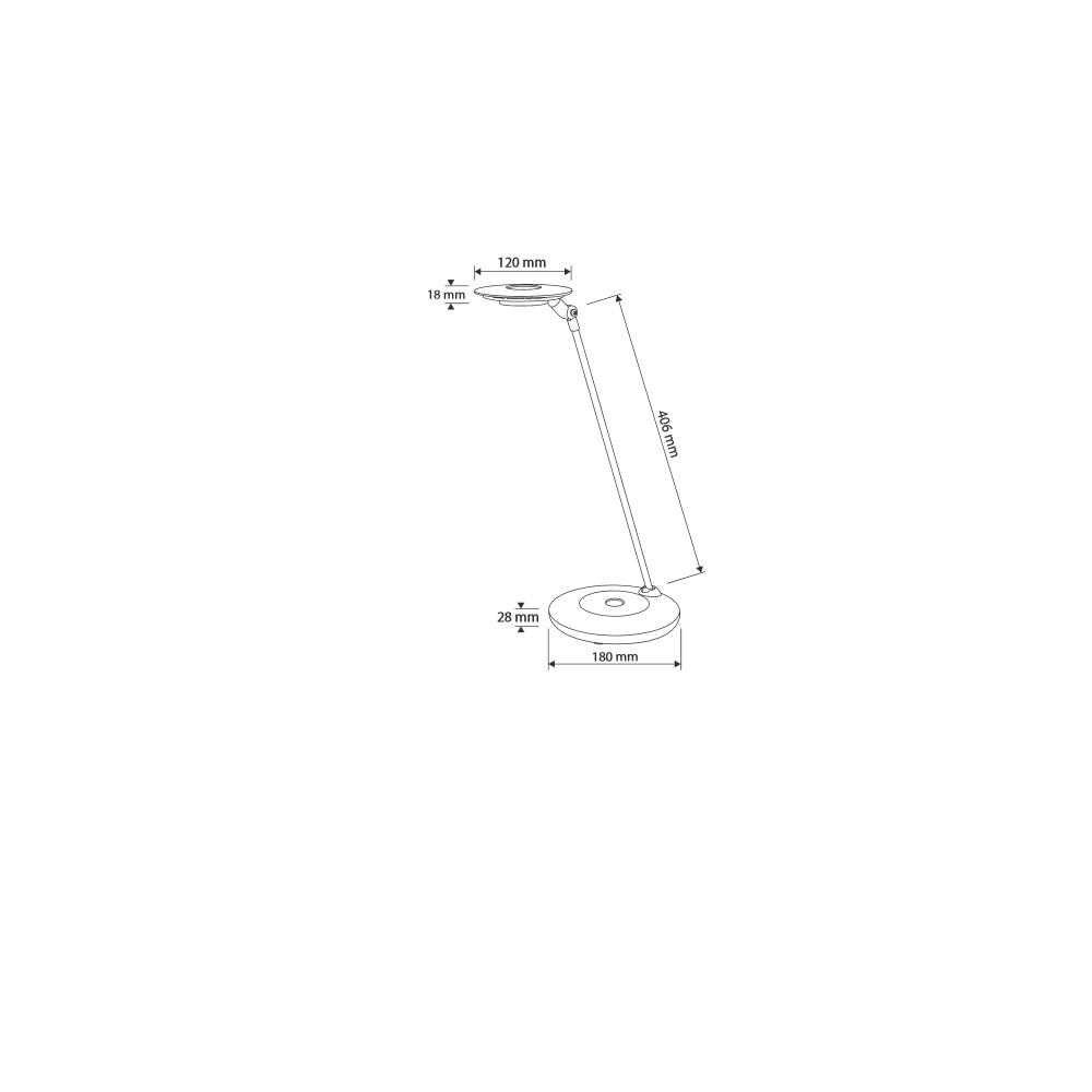 LED-Tischleuchte in Weiß / Silber, mit Dimmer