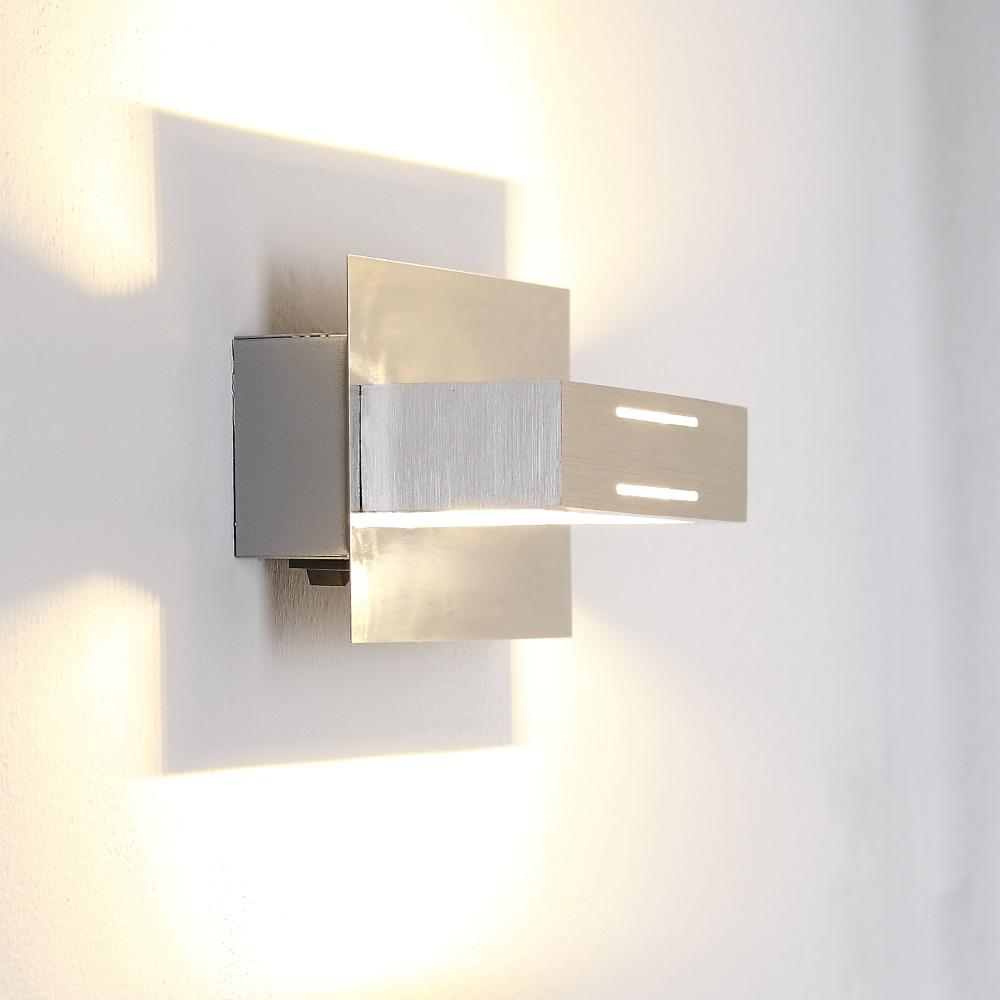 LHG LED-Wandleuchte aus Aluminium, Chrom , 1-flammig