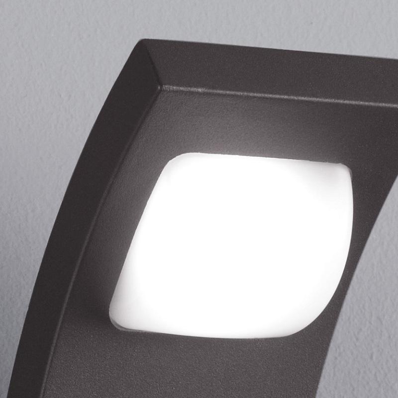 LHG LED-Wandleuchte mit 1x3W LED, IP54  in Anthrazit