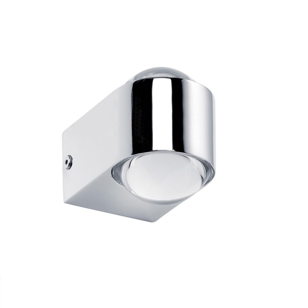 LED-Wandleuchte mit up and down Lichtaustritt, inklusive 2x 3,5 Watt  LED, 2700 K warmweiß