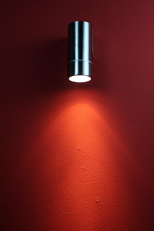 LHG LED Wandleuchte Außen, Edelstahl, Downlight, inkl LED 7W warmweiß