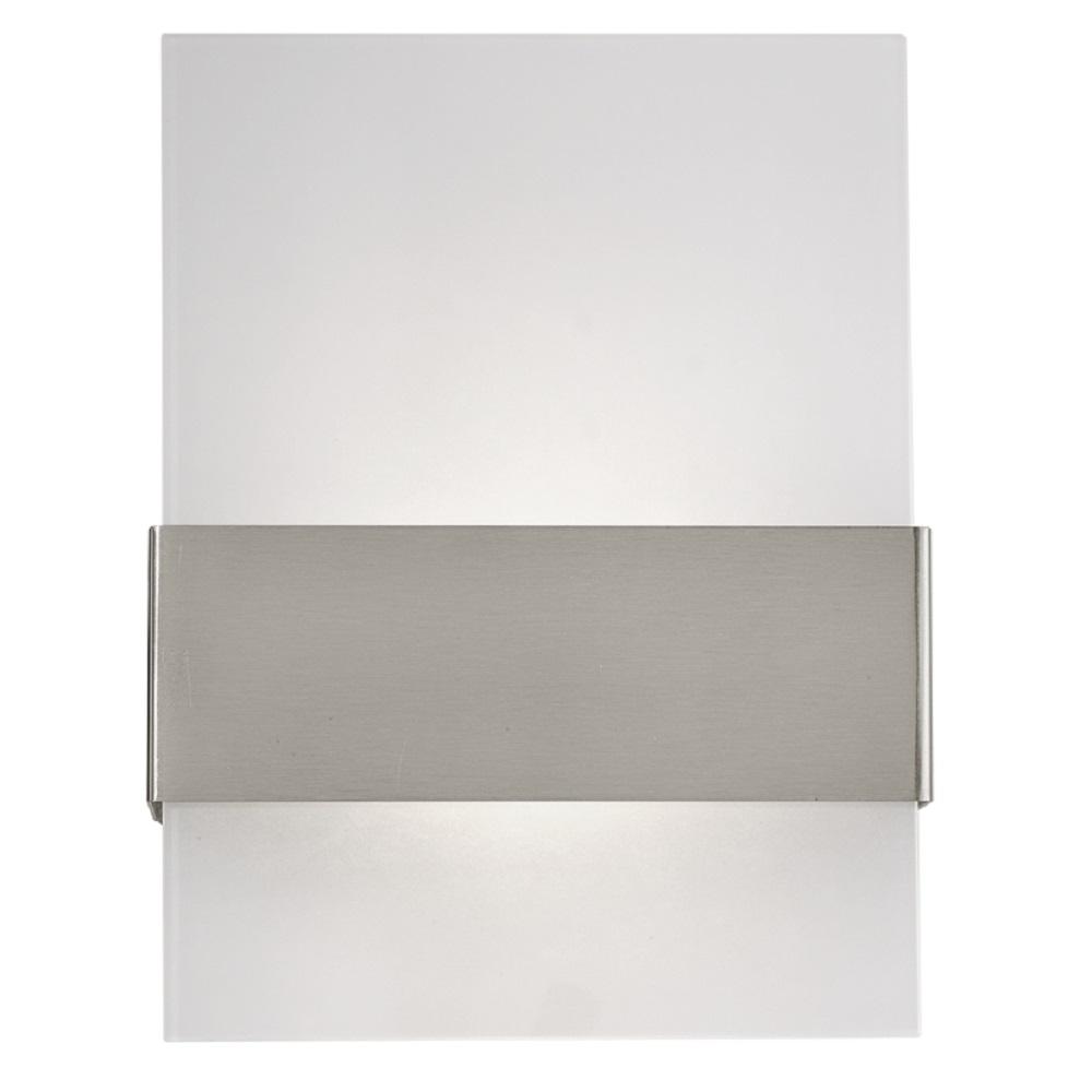 Moderne LED-Wandleuchte Nadela, Kunststoff weiß, 2x2,5 Watt LED