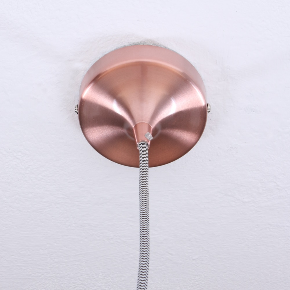 Moderne Pendelleuchte aus Aluminium in 4 Farben Durchmesser 12cm