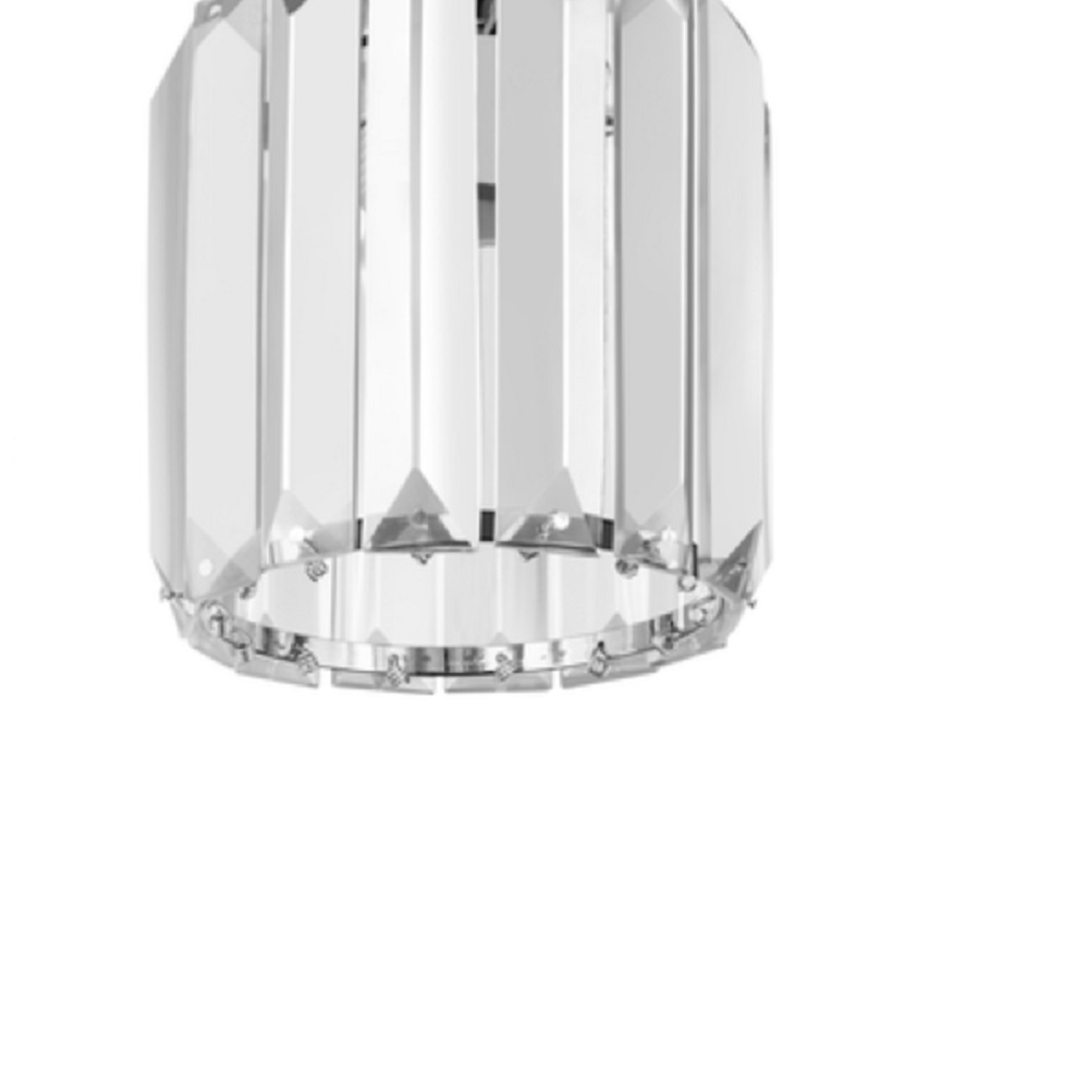 Pendelleuchte Merilo Chrom Kristallglas