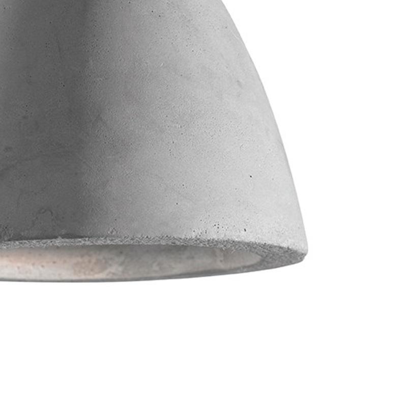Pendelleuchte Oil-4 Beton, D=12 cm, LED geeignet, grau, modern, Design
