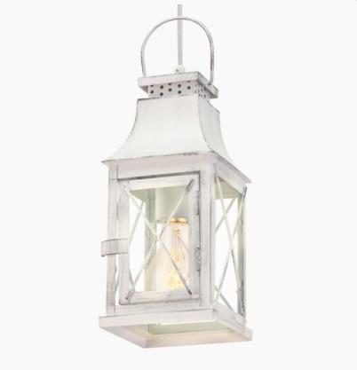 Pendelleuchte im Vintage Stil - Stahl - Grau-Patina - Klares Glas - Für Leuchtmittel E27