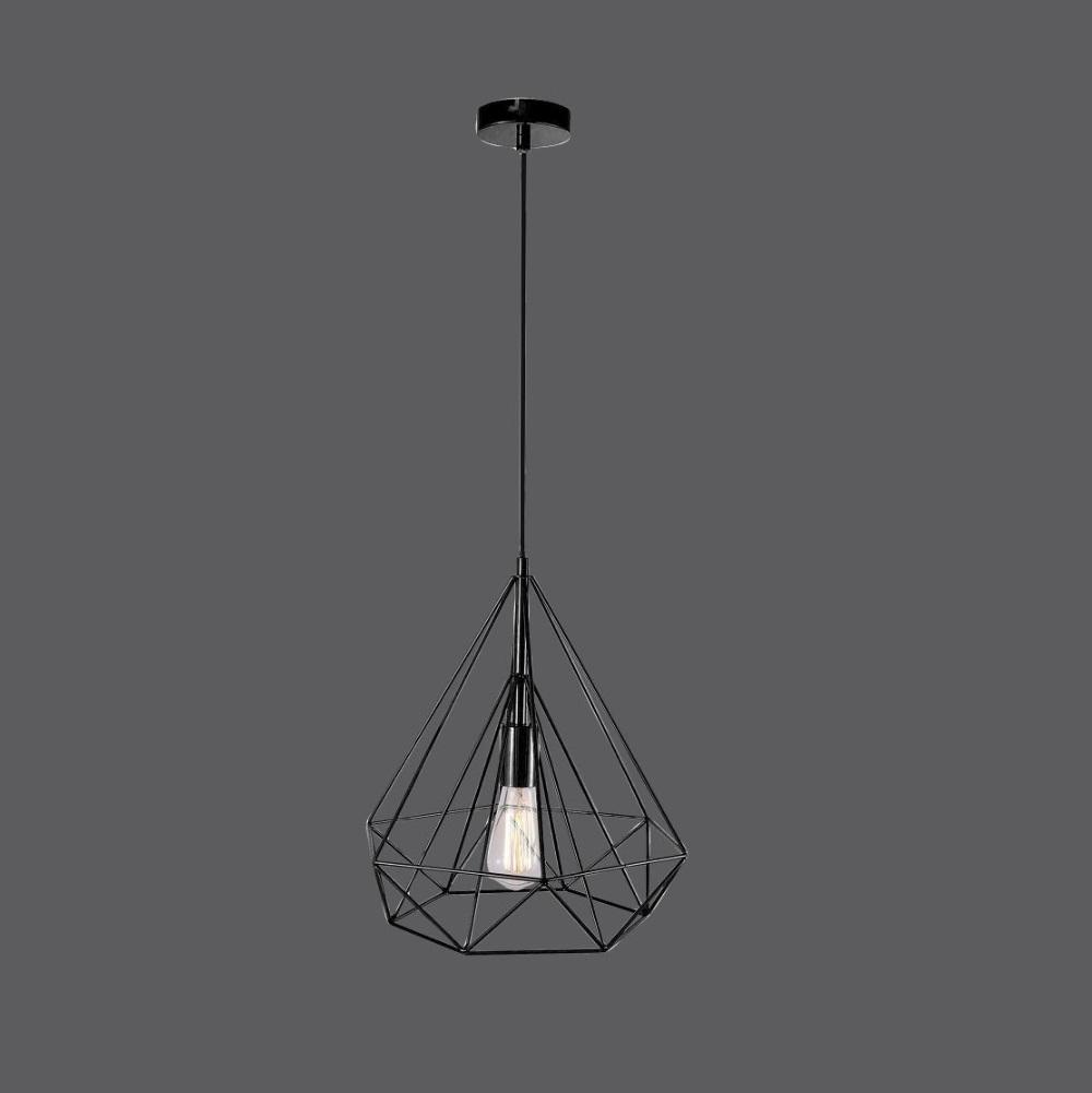 Pendelleuchte, Draht, schwarz, E27, LED möglich, modern, Design