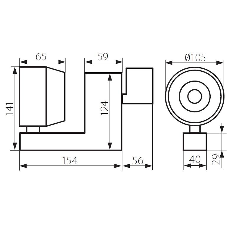 3 Phasen LED-Strahler Dorto weiß 40W