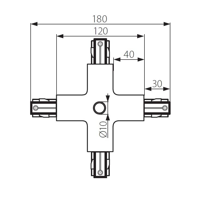 3 Phasen X-Verbinder weiß