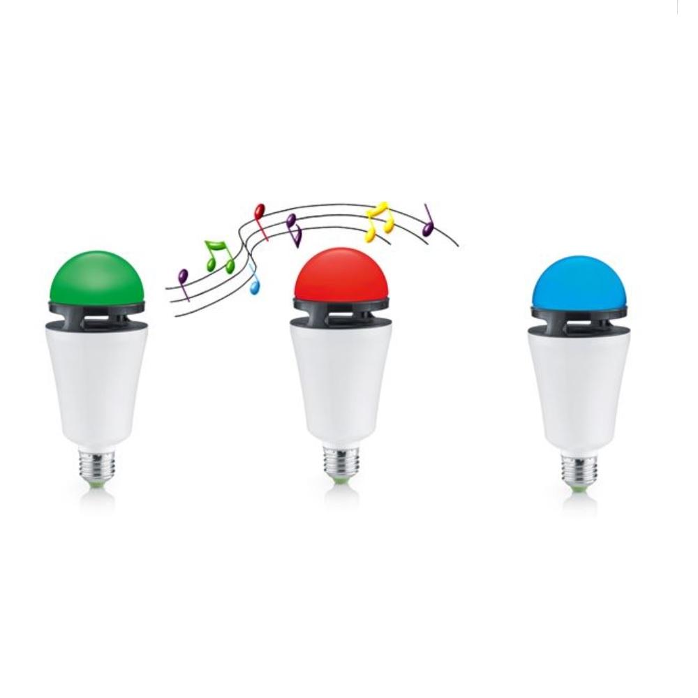 RGB LED Leuchtmittel 4 Watt - mit Bluetooth Lautsprecher und Fernbedienung - E27 Fassung - Farbwechsel