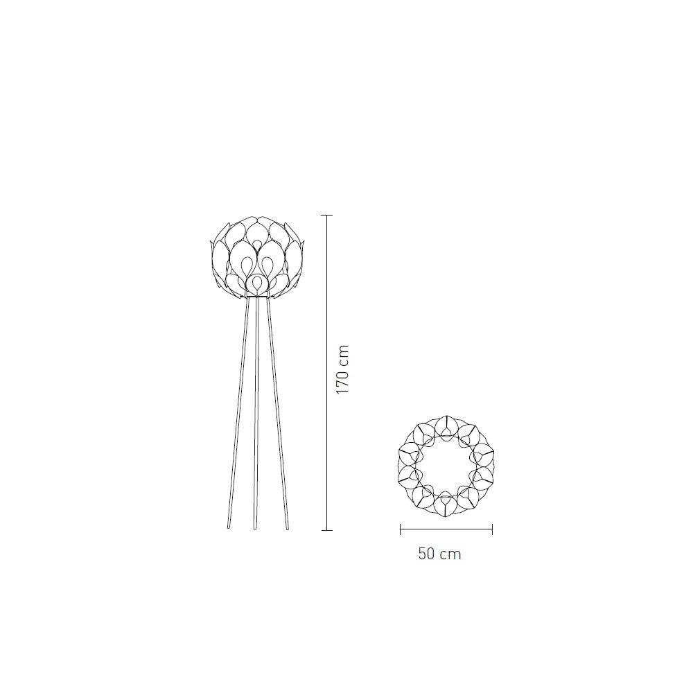 Slamp Designer-Stehleuchte Flora