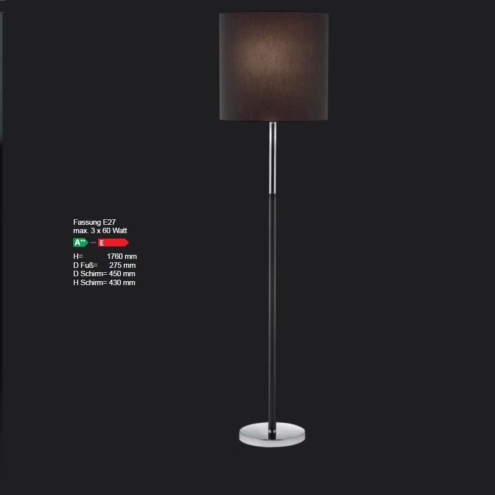 Stehleuchte mit Stoffschirm 45 cm, Farbe wählbar