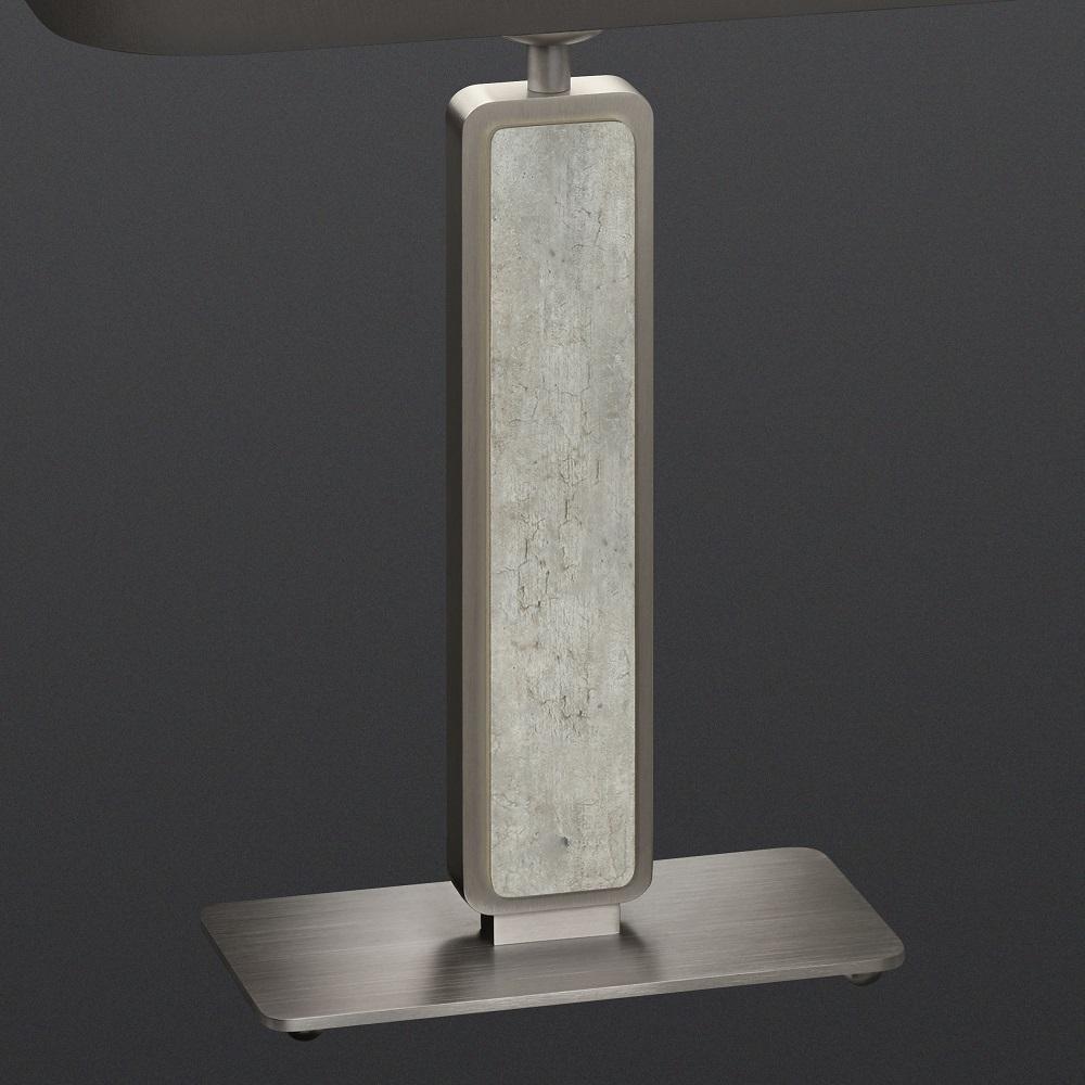 Tischleuchte Switsch Nickel-matt / Betonoptik, Schirm wählbar