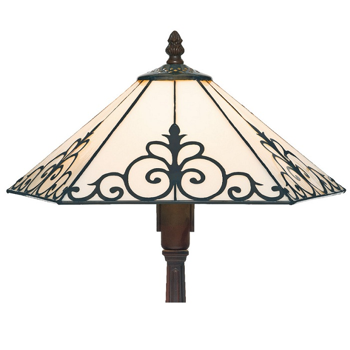 Tischleuchte, handgefertigt im Tiffany-Stil