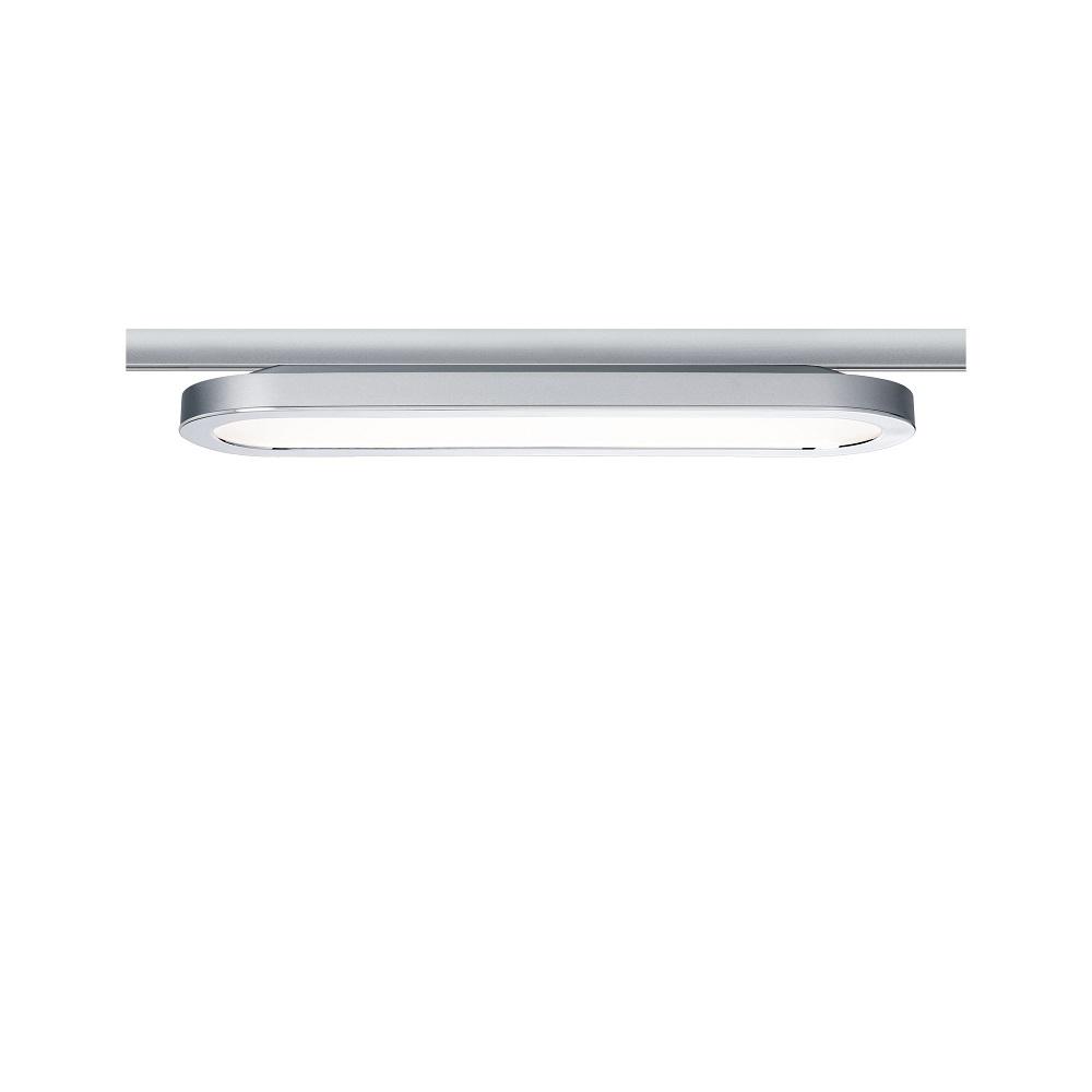 U-Rail Strahler LED-Panel, 38x11 cm, 7W, 2700K warmweiß extra, chrom-matt