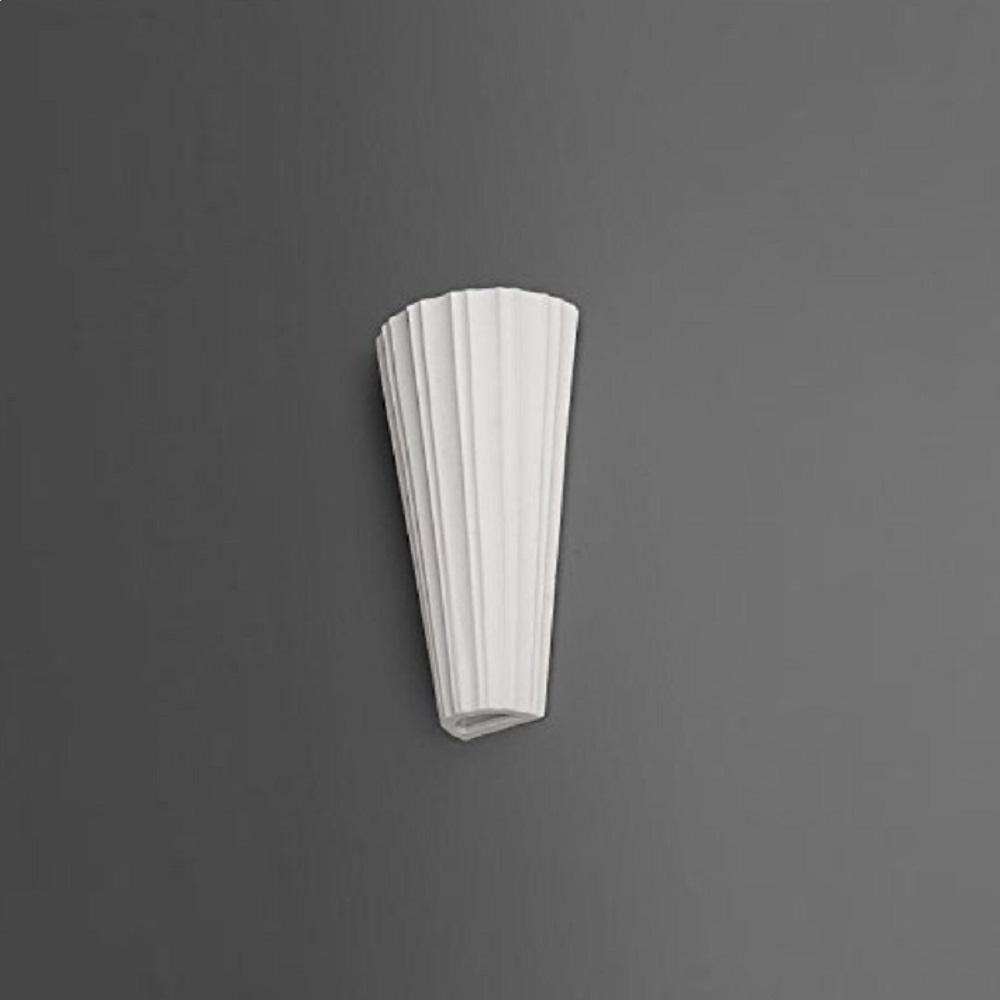 Wandleuchte, Gips, Weiß, 36,3 cm hoch