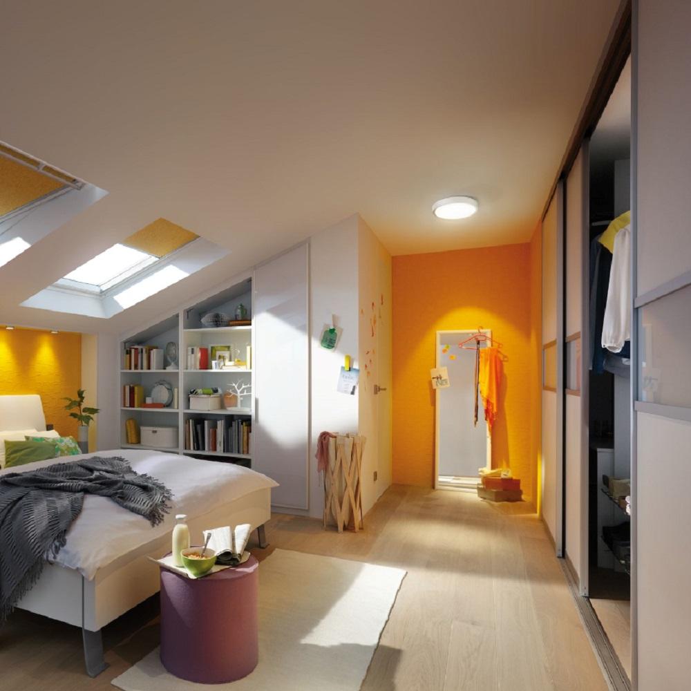 wei e deckenleuchte lunar led panel rund wohnlicht. Black Bedroom Furniture Sets. Home Design Ideas