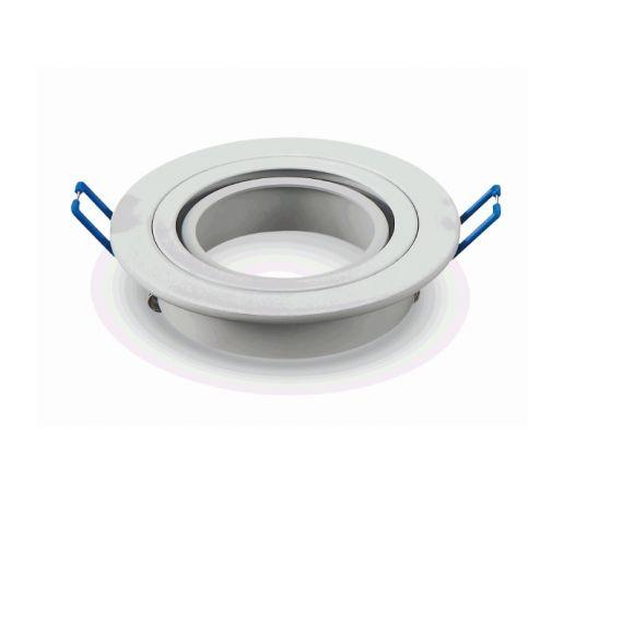10-er Set LED Einbaustrahler - weiß rund, inkl. LED 7W, GU10, D= 9,1 cm