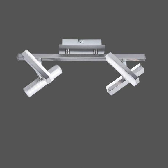 4-flammig LED Deckenstrahler Rico, verstellbare drehbare Spots, Balkenstrahler