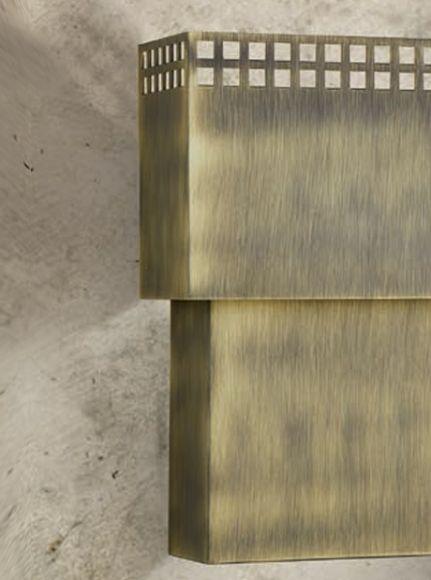 Attraktive Wandleuchte - 3 Oberflächen - Höhe 45 cm