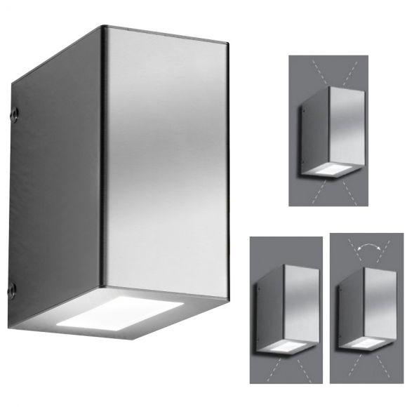 Außenwandleuchte, LED-Wandleuchte, 3 verschiedene Lichtaustritte, Up & Down