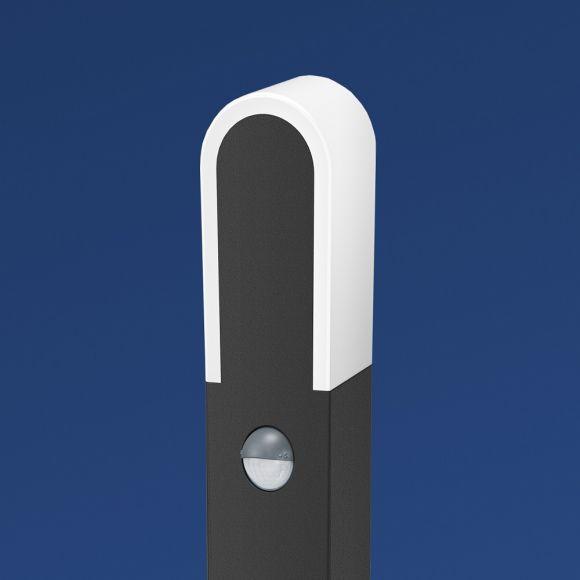 B-Leuchten LED-Pollerleuchte dunkelgrau, Bewegungsmelder