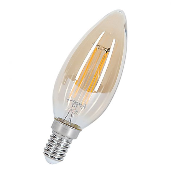 C35, E14 LED 4Watt  Deco Kerze 360° gold