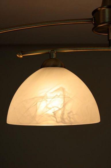 deckenleuchte 4 flammig in altmessing schwenkbare breite wohnlicht. Black Bedroom Furniture Sets. Home Design Ideas