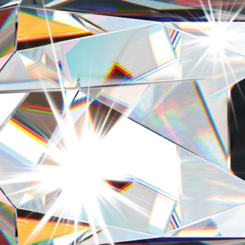 Deckenleuchte in Chrom mit klarem Kristallglas 50 x 50 cm